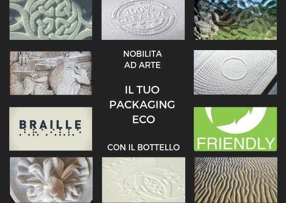 Business, etica ed ecologia sintetizzati ad arte nella nobilitazione del packaging con bottello
