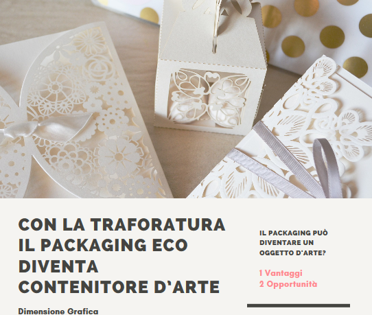La traforatura trasforma il packaging eco in contenitore d'arte